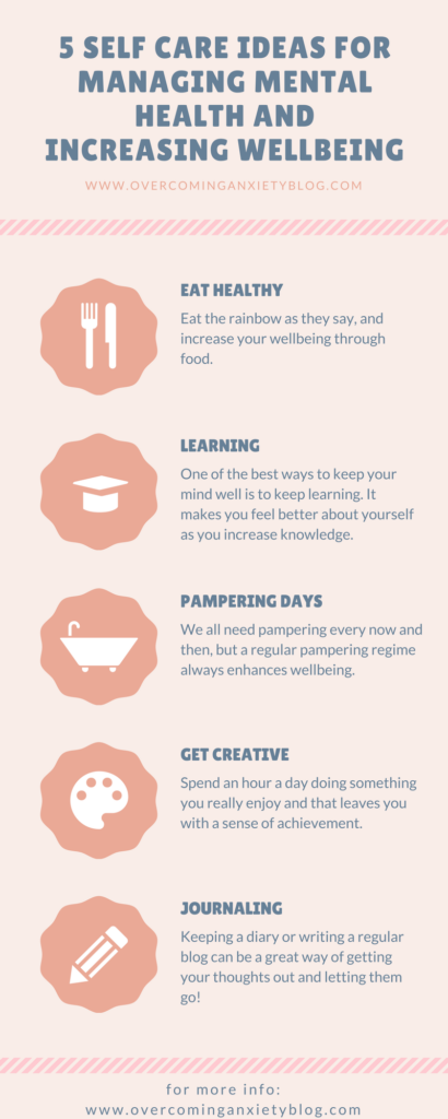 5 Self Care Ideas for Mental Health and Wellbeing